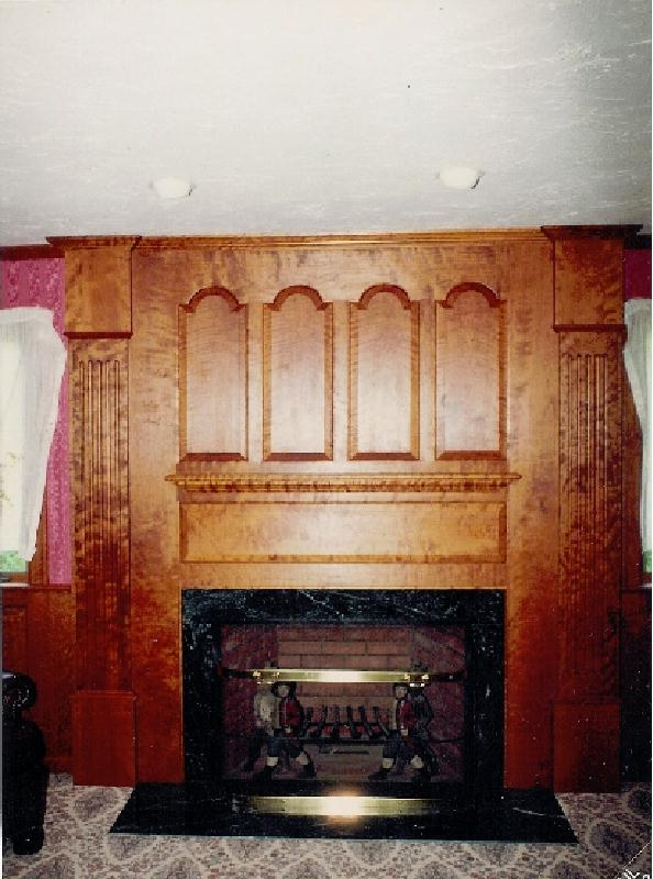 From The Hunting Lodge Theme To Fine Crafted Woodwork By A Furniture Maker Fireplace Finshed With Vermont Verdi Marble